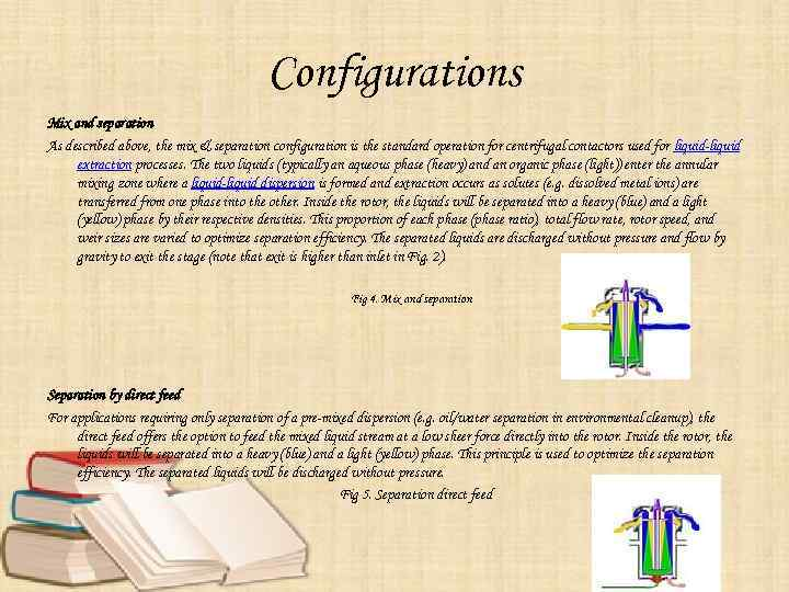 Configurations Mix and separation As described above, the mix & separation configuration is the
