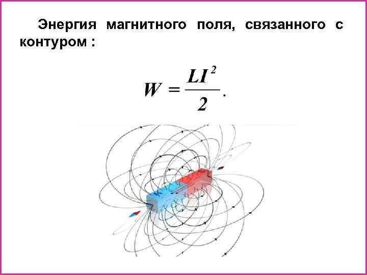 Энергия магнитного поля, связанного с контуром :