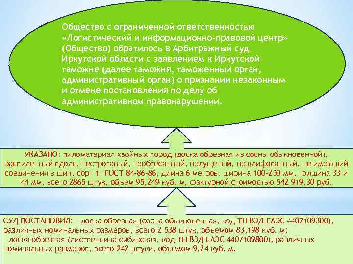 Общество с ограниченной ответственностью «Логистический и информационно-правовой центр» (Общество) обратилось в Арбитражный суд Иркутской