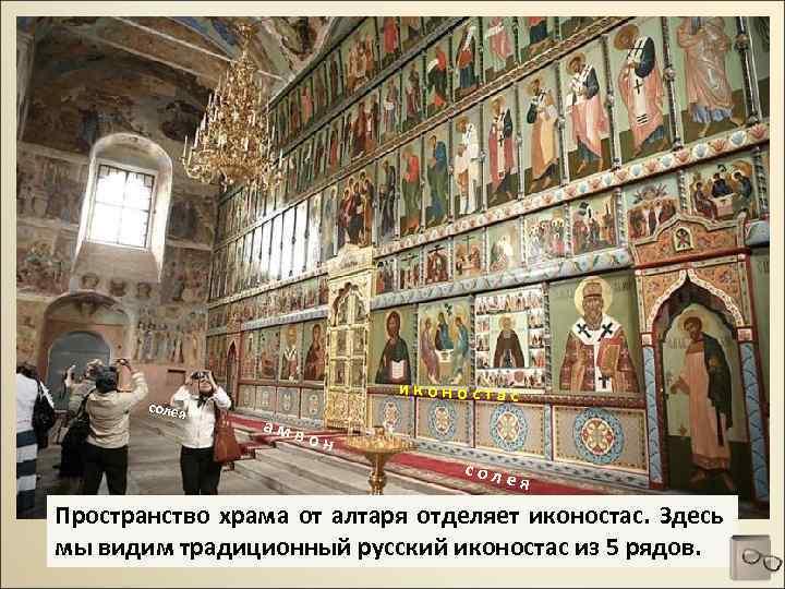 солея иконостас амв он соле я Пространство храма от алтаря отделяет иконостас. Здесь мы