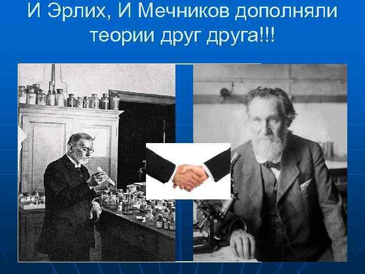 И Эрлих, И Мечников дополняли теории друга!!!