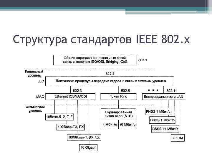 Структура стандартов IEEE 802. x