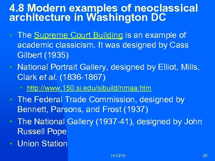 4. 8 Modern examples of neoclassical architecture in Washington DC • The Supreme Court