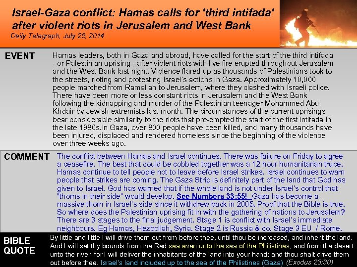 Israel-Gaza conflict: Hamas calls for 'third intifada' after violent riots in Jerusalem and West
