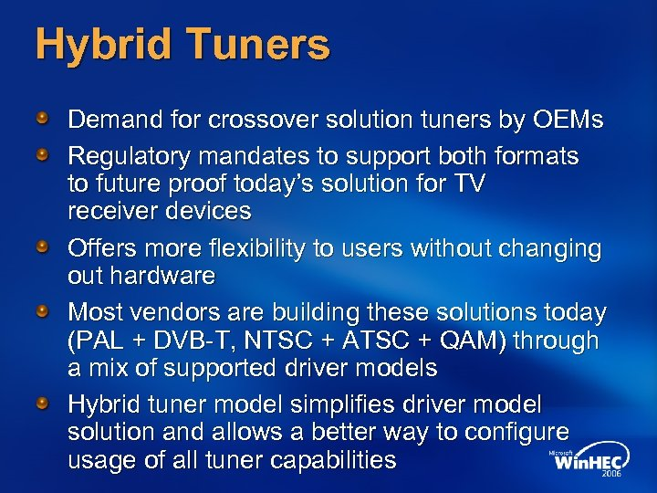 Hybrid Tuners Demand for crossover solution tuners by OEMs Regulatory mandates to support both
