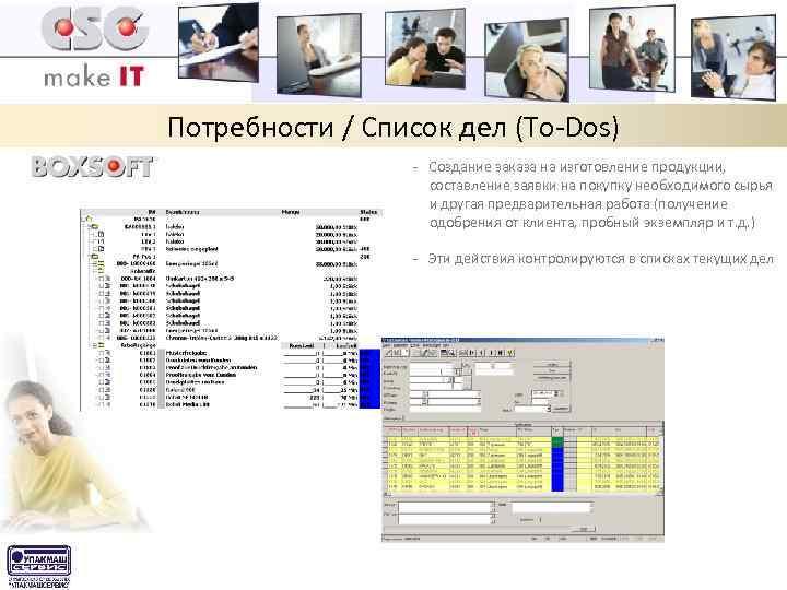 Потребности / Список дел (To-Dos) - Создание заказа на изготовление продукции, составление заявки на