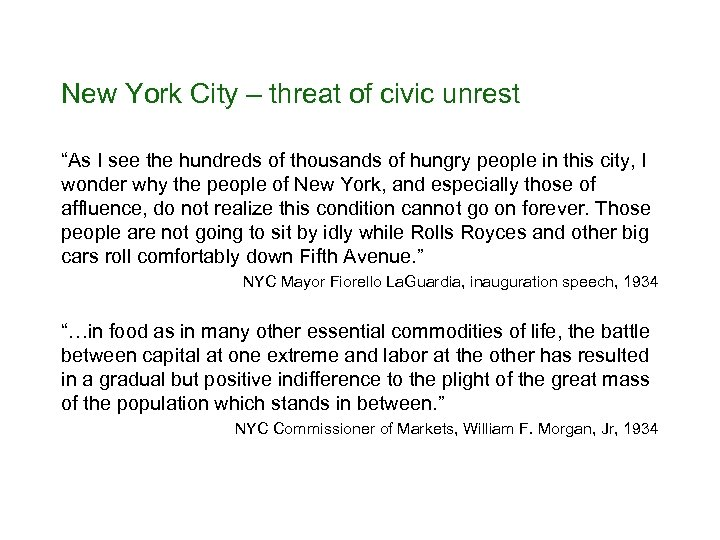"""New York City – threat of civic unrest """"As I see the hundreds of"""