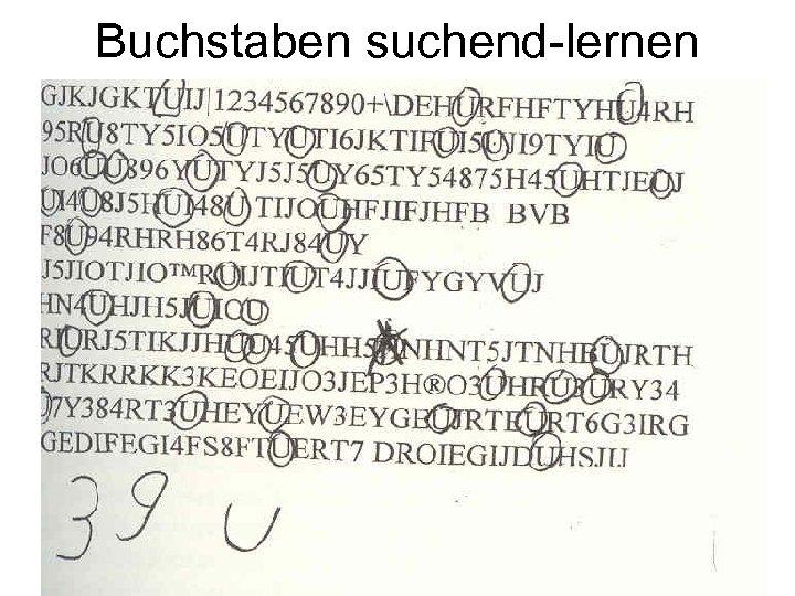 Buchstaben suchend-lernen
