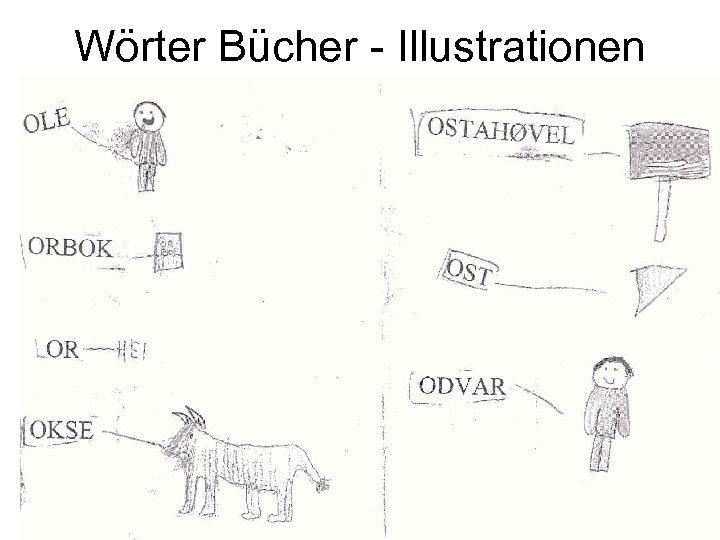Wörter Bücher - Illustrationen
