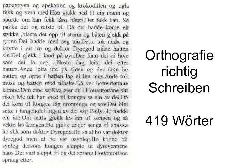 Orthografie richtig Schreiben 419 Wörter
