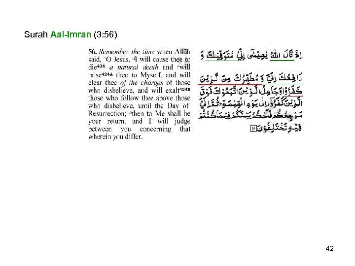 Surah Aal-Imran (3: 56) 42