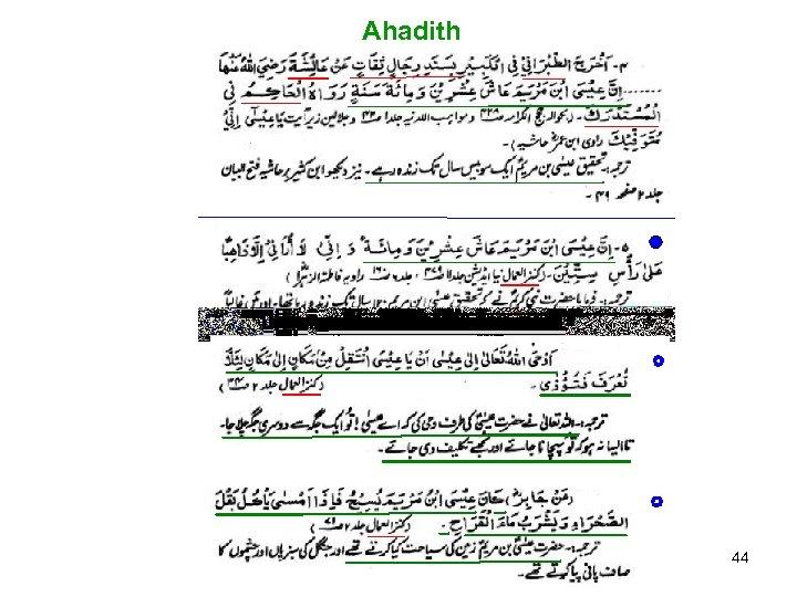 Ahadith 44