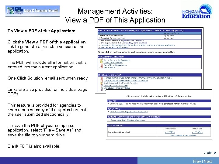 Management Activities: View a PDF of This Application To View a PDF of the
