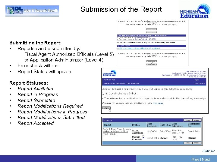 Submission of the Report Submitting the Report: • Reports can be submitted by: Fiscal