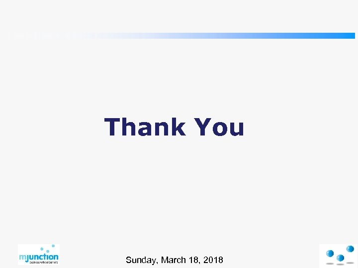Thank You Sunday, March 18, 2018