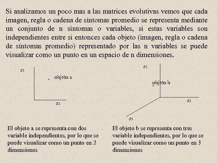 Si analizamos un poco mas a las matrices evolutivas vemos que cada imagen, regla