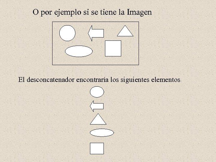 O por ejemplo si se tiene la Imagen El desconcatenador encontraría los siguientes elementos: