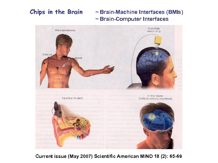Chips in the Brain ~ Brain-Machine Interfaces (BMIs) ~ Brain-Computer Interfaces Current issue (May