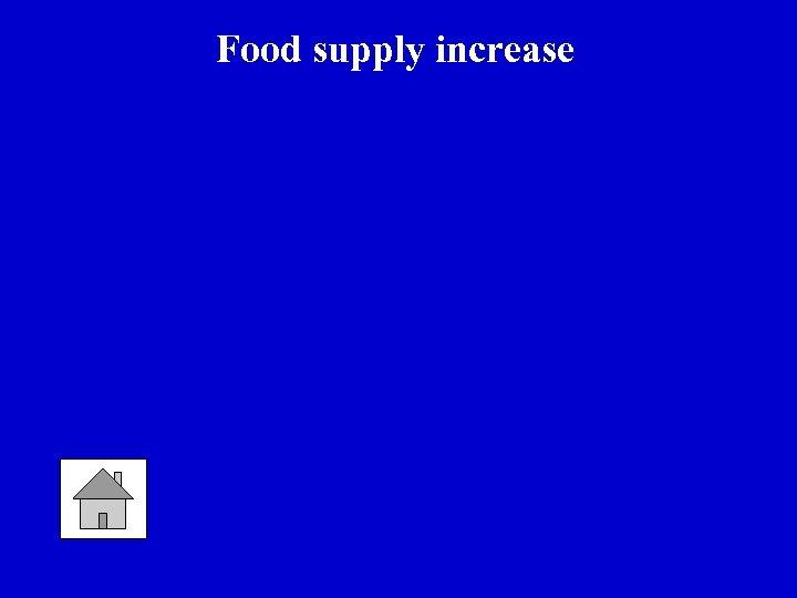 Food supply increase