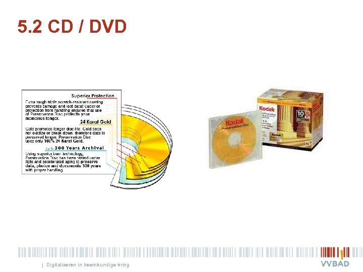 5. 2 CD / DVD | Digitaliseren in heemkundige kring