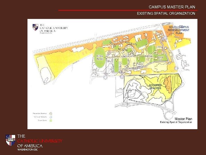 CAMPUS MASTER PLAN EXISTING SPATIAL ORGANIZATION THE CATHOLIC UNIVERSITY OF AMERICA WASHINGTON DC