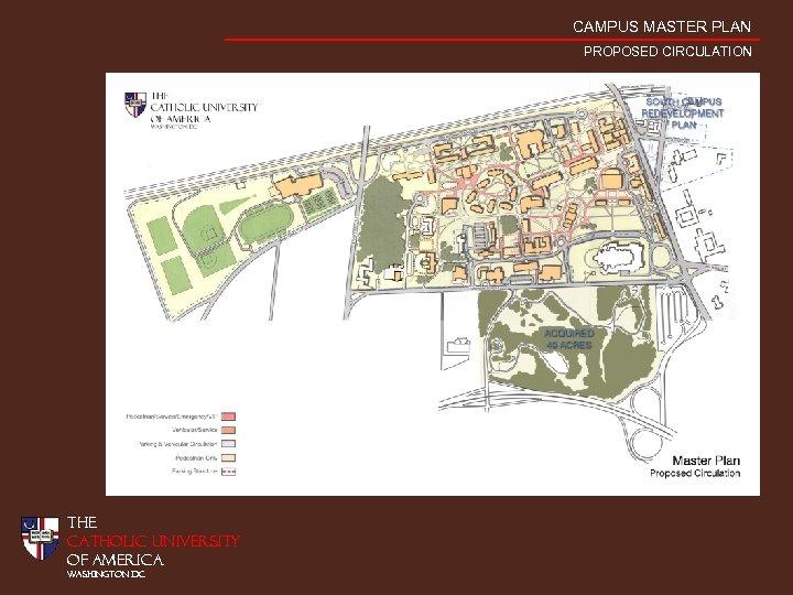 CAMPUS MASTER PLAN PROPOSED CIRCULATION THE CATHOLIC UNIVERSITY OF AMERICA WASHINGTON DC