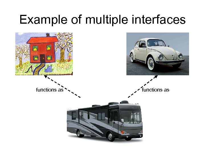 Example of multiple interfaces functions as