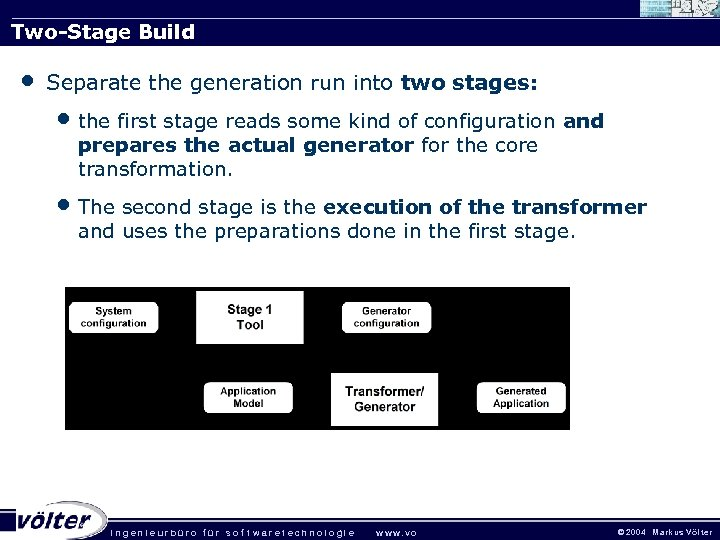 Two-Stage Build • Separate the generation run into two stages: • the first stage