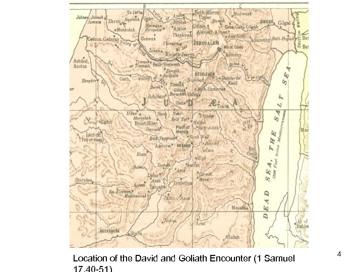 Location of the David and Goliath Encounter (1 Samuel 4
