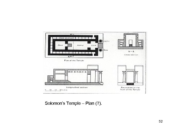 Solomon's Temple – Plan (? ). 52