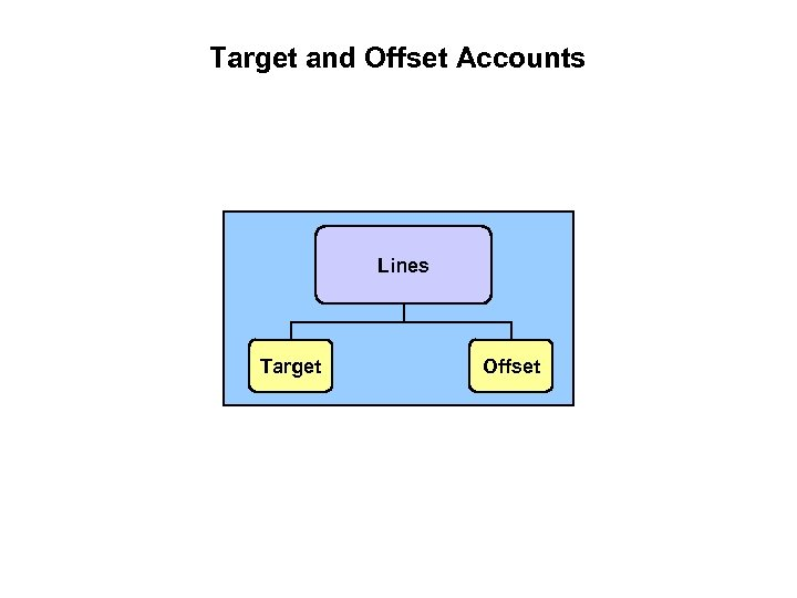 Target and Offset Accounts Lines Target Offset