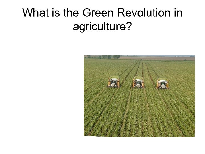 What is the Green Revolution in agriculture?