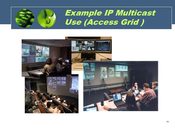 Example IP Multicast Use (Access Grid ) 14