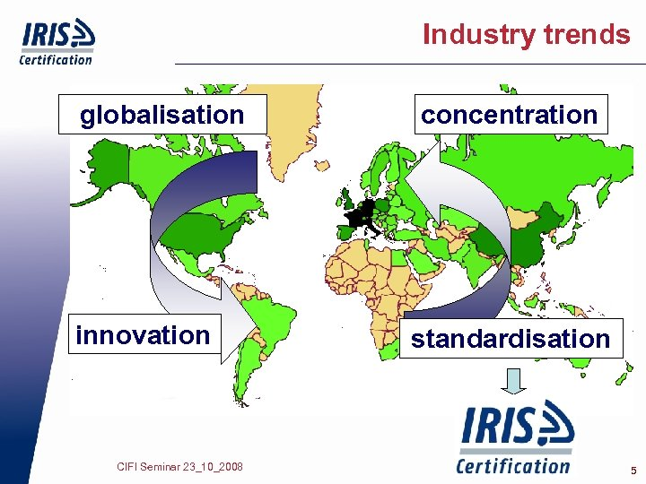 Industry trends globalisation innovation CIFI Seminar 23_10_2008 concentration standardisation 5