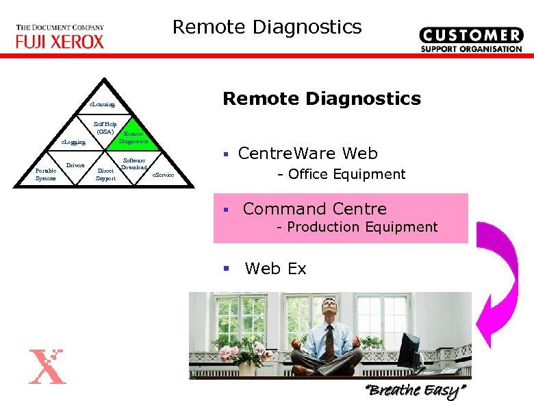 Remote Diagnostics e. Learning Self Help (OSA) e. Logging Portable Systems Remote Diagnostics Drivers