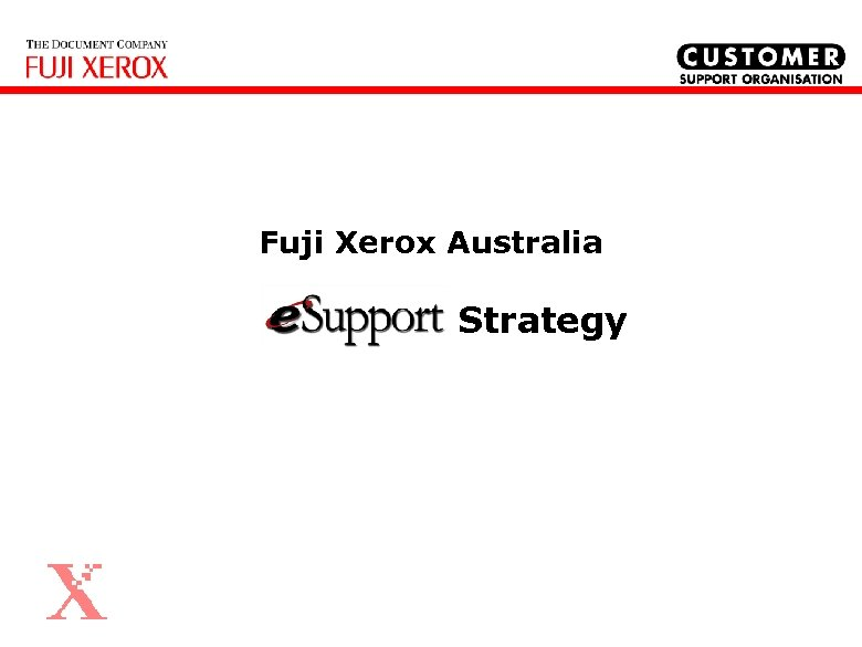 Fuji Xerox Australia Strategy