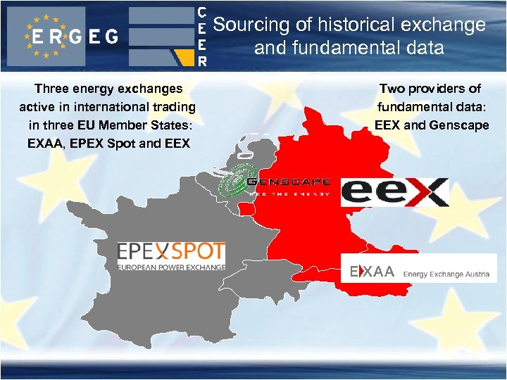 Sourcing of historical exchange and fundamental data Three energy exchanges active in international trading