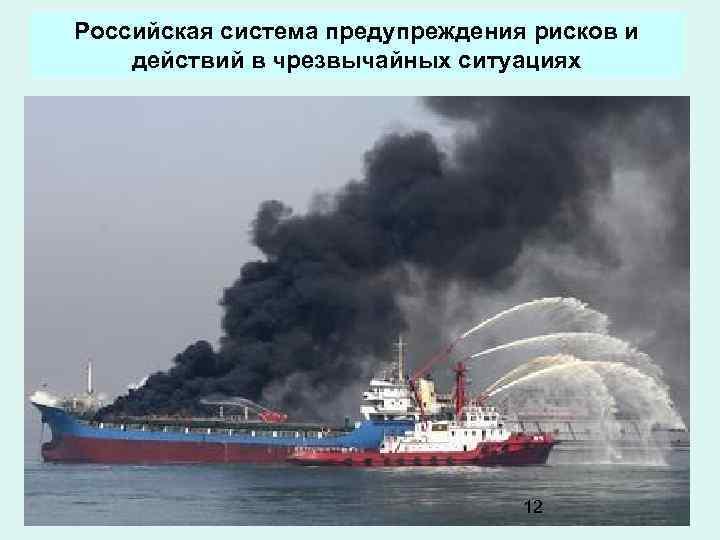 Российская система предупреждения рисков и действий в чрезвычайных ситуациях 12
