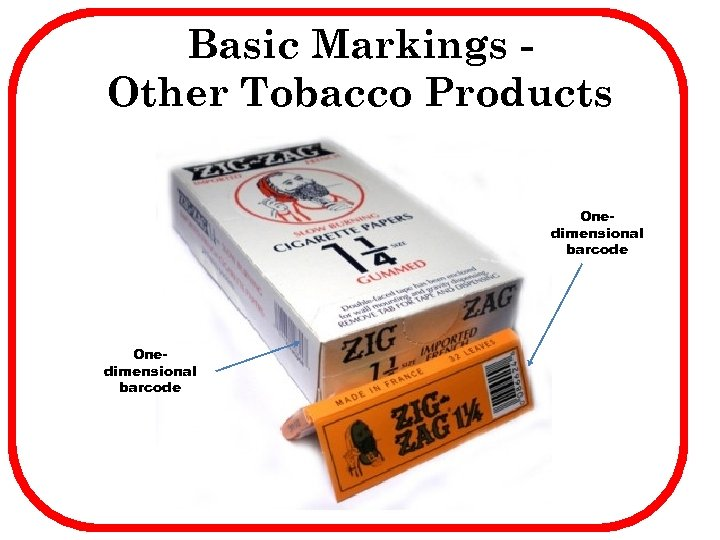 Basic Markings Other Tobacco Products Onedimensional barcode