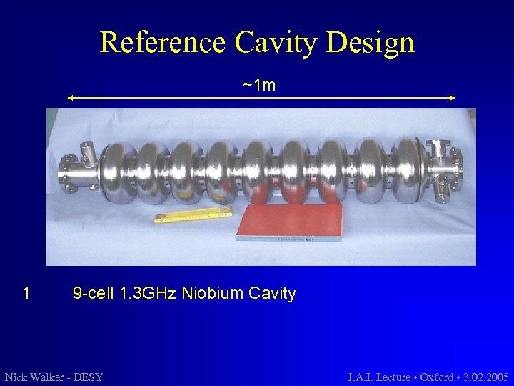 Reference Cavity Design ~1 m 1 9 -cell 1. 3 GHz Niobium Cavity Nick