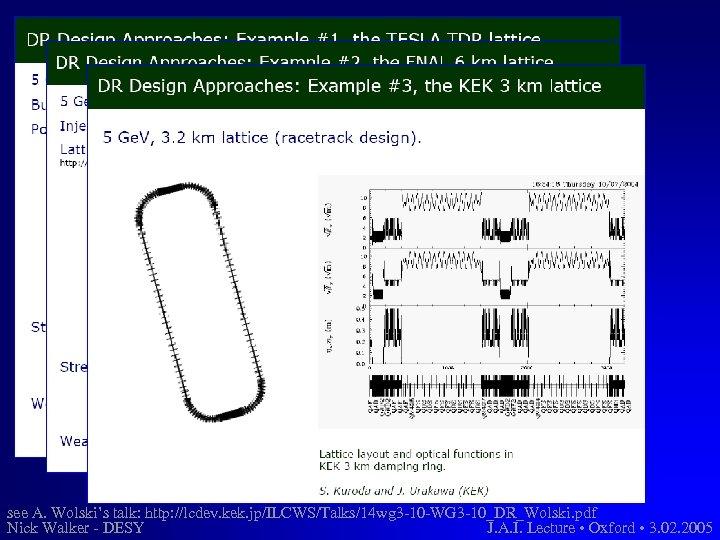 see A. Wolski's talk: http: //lcdev. kek. jp/ILCWS/Talks/14 wg 3 -10 -WG 3 -10_DR_Wolski.