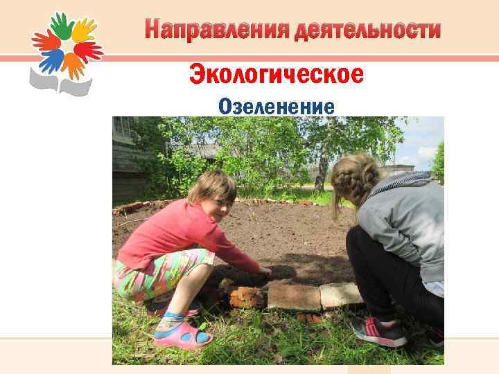 Направления деятельности Экологическое Озеленение