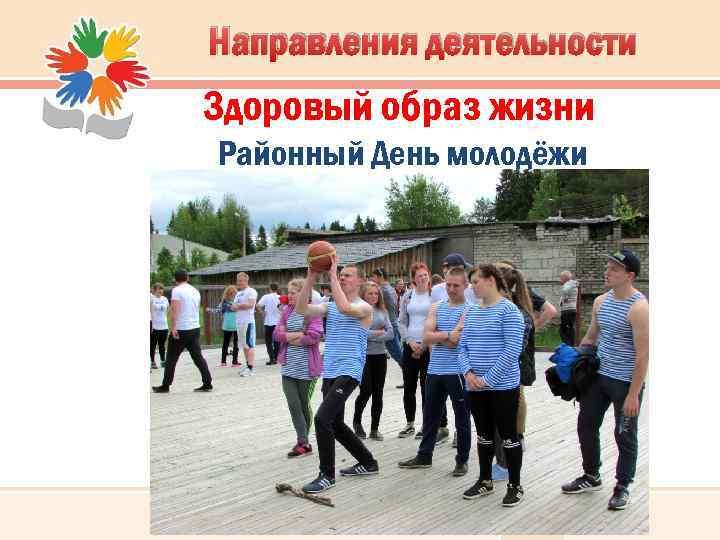Направления деятельности Здоровый образ жизни Районный День молодёжи