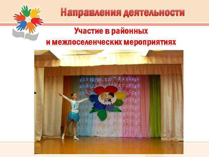 Направления деятельности Участие в районных и межпоселенческих мероприятиях