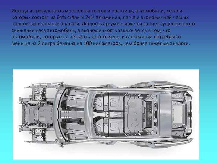 Исходя из результатов множества тестов и практики, автомобили, детали которых состоят из 64% стали