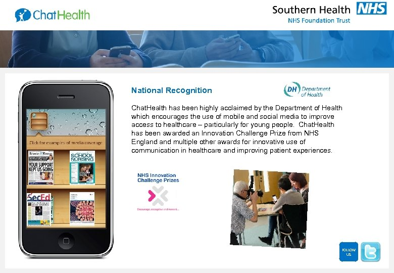 National Recognition Chat. Health has been highly acclaimed by the Department of Health which