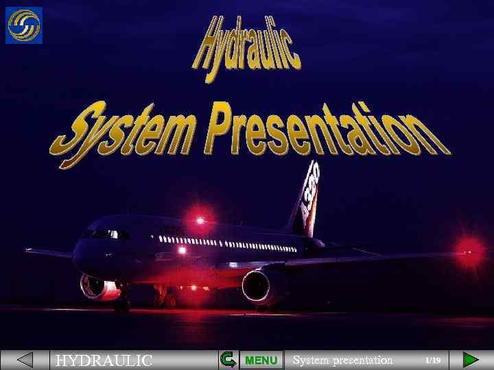 HYDRAULIC MENU System presentation 1/19
