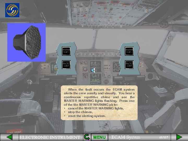 ELECTRONIC INSTRUMENT MENU ECAM System 1 117 The