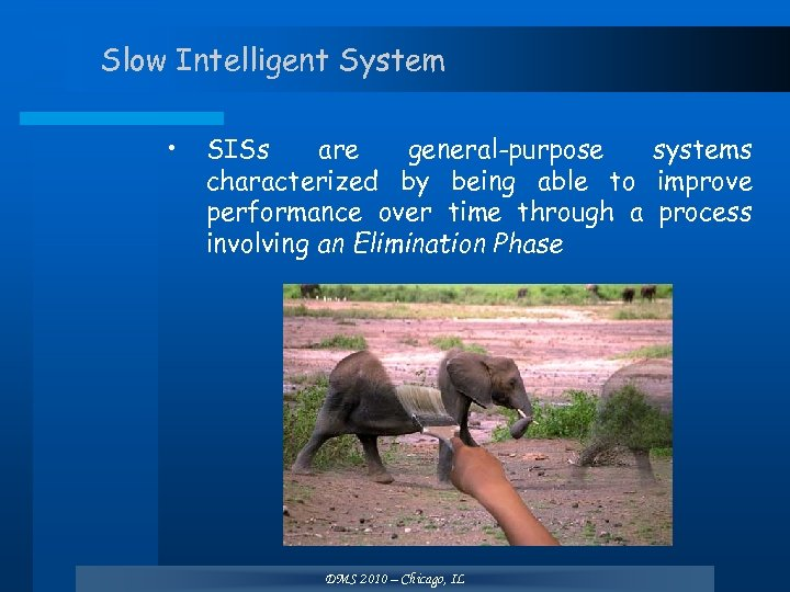 Slow Intelligent System • SISs are general-purpose systems characterized by being able to improve