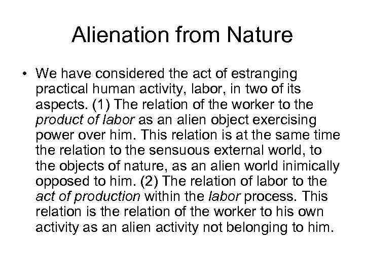 alienation thesis Alienation thesis - marx's theory of alienation - wikipedia essay database.